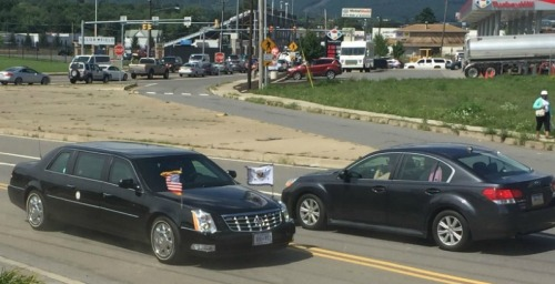 Hillary Clinton and Joe Biden leave Scranton. (Photos/JP Vellotti)
