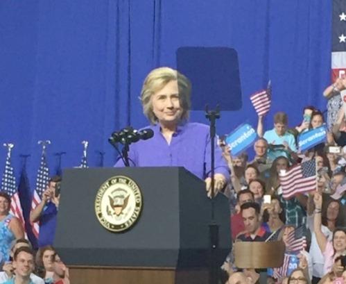 Hillary speaking - JP Vellotti