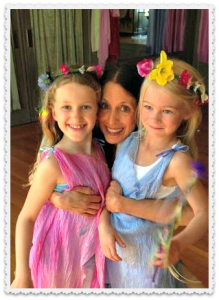 Vicky Sloat with 2 young dancers.