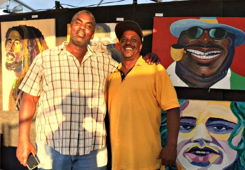 There was art -- like this from Dante Tilghman (left) -- for the adults...