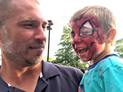 ...face painting for kids like Zachary O'Dell...