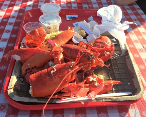 At the end, not much remained of the 3,000 lobsters.