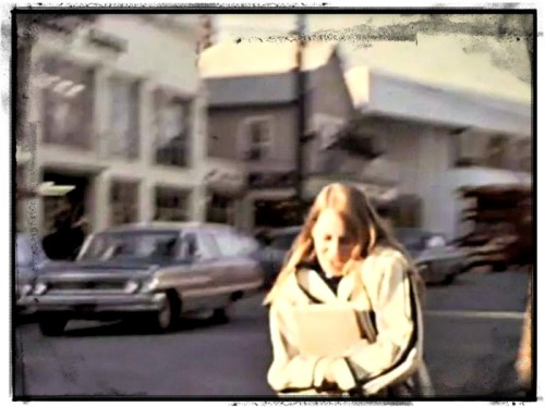 "A scene from ""Lost Film."" The Main Street building on the left -- now the Gap -- was then a furniture store."