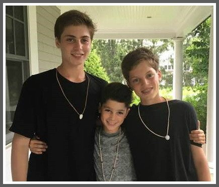 From left: Max, Sam and Jack Eigen.