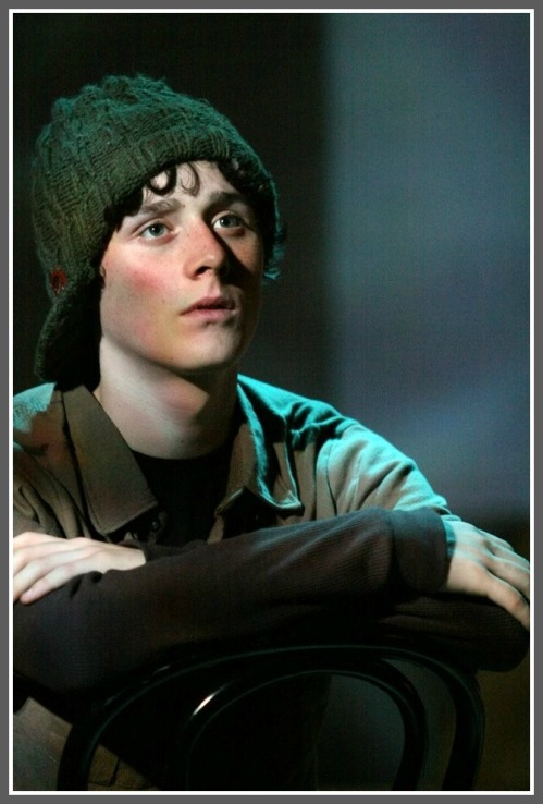 """Noah Witke in one of several ensemble roles in """"The Laramie Project."""" (Photo/Kerry Long)"""