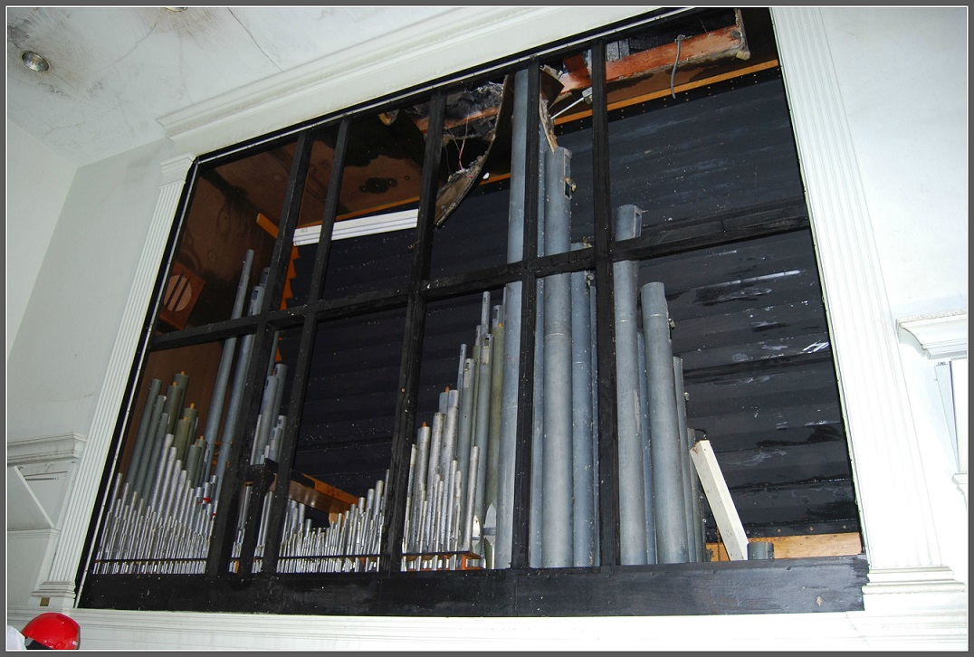 Firefighters cut a hole in the roof above the pipe organ. The heat from the & Saugatuck Churchu0027s Pipe Organ: Not A Pipe Dream   06880