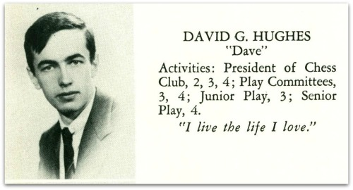 David Hughes' writeup in the 1943 Staples yearbook.