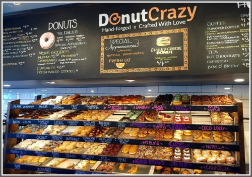 This is what you'll see when Donut Crazy finally opens.