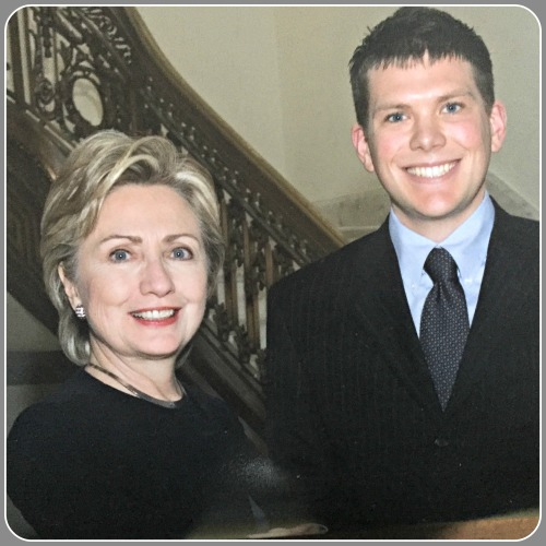 In college, Drew Coyne interned with then-Senator Hillary Clinton.