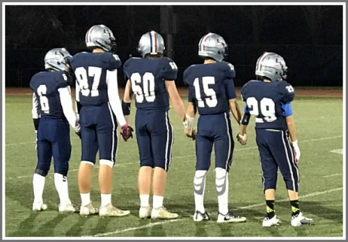 Dylan Curran (#29) and his teammates, before the game. (Photo/Greershotz.com)