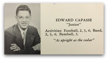 Ed Capasse was in the upper left of StevanDohanos' painting. He went on to become a noted Westport lawyer. Here's his yearbook photo and writeup.