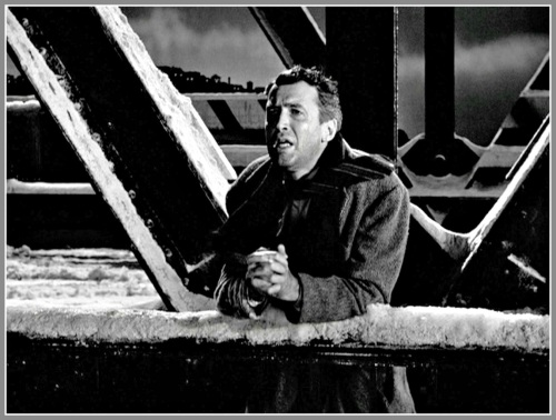 George Bailey on the Bedford Falls bridge (1946).