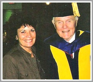 Jo Ann Miller and John Glenn at Ohio State University.