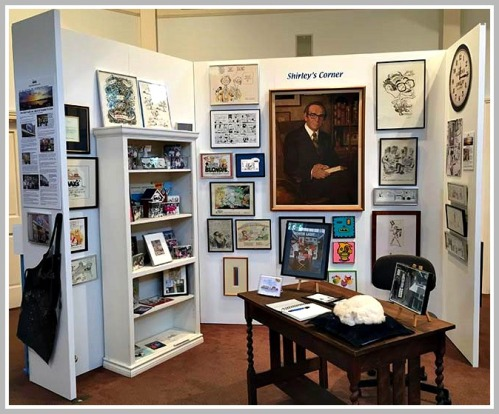 """""""Shirley's corner,"""" at the Westport Historical Society. (Photos/Miggs Burroughs)"""