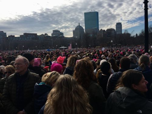 "Riley Baker is a Westporter who goes to school near Boston. She said, ""It was an incredible day of speeches, activism, and coming together with 125,000 other people who share the same goals and beliefs I do."""
