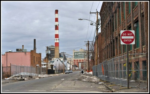 An abandoned factory near downtown Bridgeport.