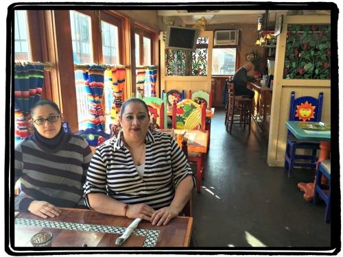 Colleen and Jennifer Osorio, inside Villa del Sol.