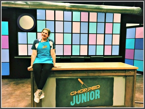 "Daphne Baker on the set of ""Chopped Junior"" ..."