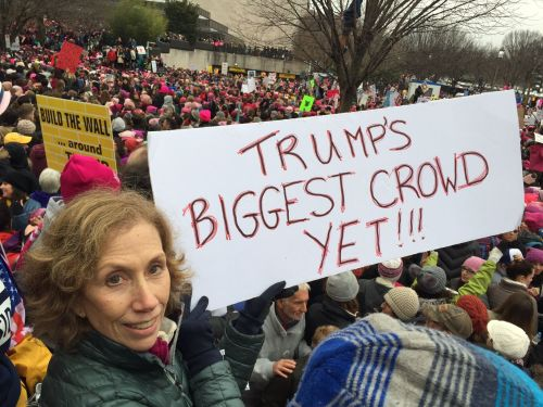 This final photo of Washington comes from Melissa Kane, chair of the Westport Democratic Committee. She heard that the crowd in that city alone was 1.2 million.