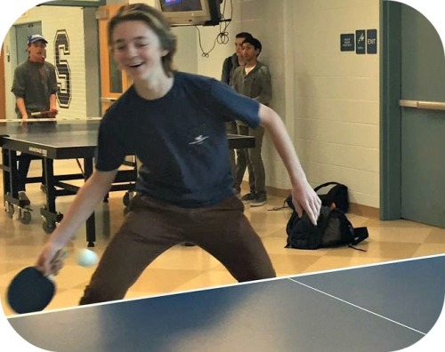 Emerson Anvari chose ping pong as a way to reduce midterm stress.