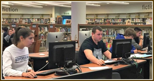 Fifty minutes between exams allowed students time to study in the library -- and relax, eat healthily and participate in activities too.