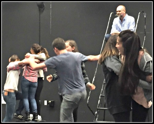 David Roth got students up and moving with theater games.