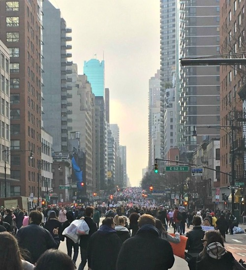 """Westporter Katherine Ross took this photo in New York, and said: """"This is what democracy looks like."""""""