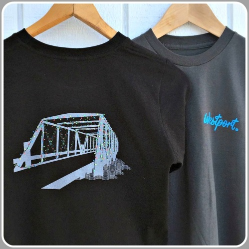 Townee's sparkling Saugatuck Bridge t-shirt.