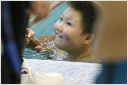 This is what the Westport Y's Special Olympics Water Rats program is all about. (Photos courtesy of Westport Weston Family YMCA)