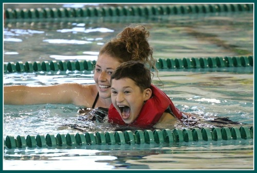 Having fun with the Westport Y's Special Olympics swim program.