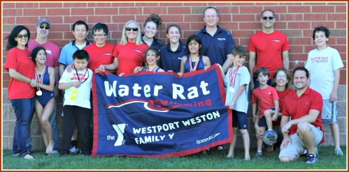 The Westport Weston Family YMCA Water Rat Special Olympics team (with coaches) (and friends!).