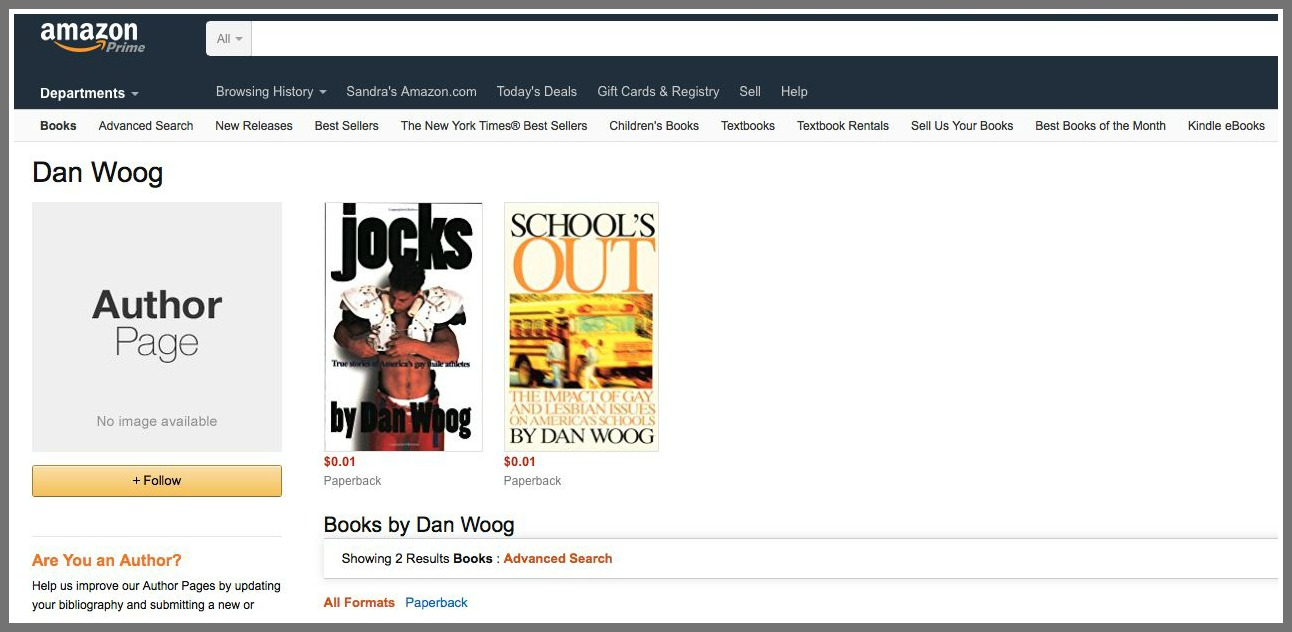 My Amazon Author Page Before Sandra Long Went To Work Only 2 Of My Books