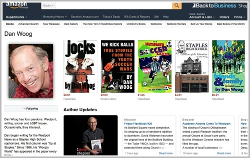 "My new Amazon page. It has many more of the books I've written -- and every ""06880"" story appears as soon as it's posted. Crazy!"