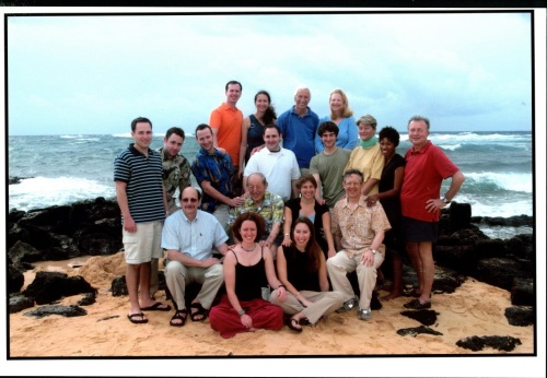 Debbie Stewart (middle row, 2nd from right) and the Nevas family.