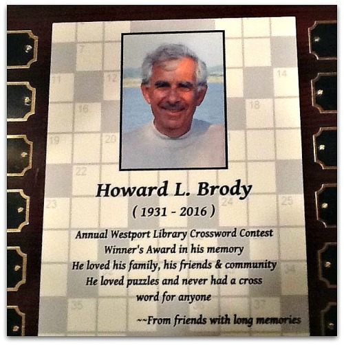 From now on, the winner's name will be etched on a plaque bearing the name of Howard Brody. As the