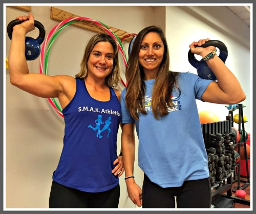 Jenn Fittipaldi and Frankie D'Souza, at Fitness Works.