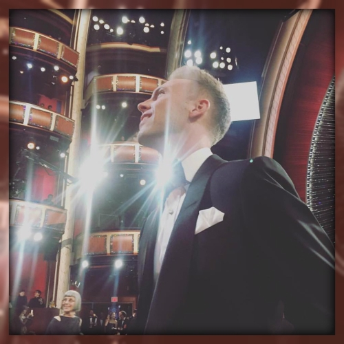 Justin Paul at the Oscars.