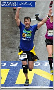 Craig Adler finishes his 1st Boston Marathon.