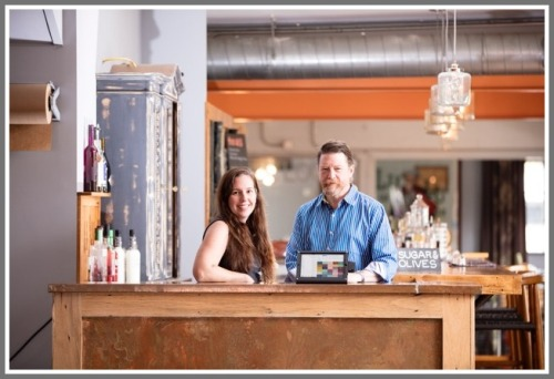 Jennifer Balin and Chris Grimm. He has helped welcome Josh Kangere to Sugar & Olives as a fellow employee.