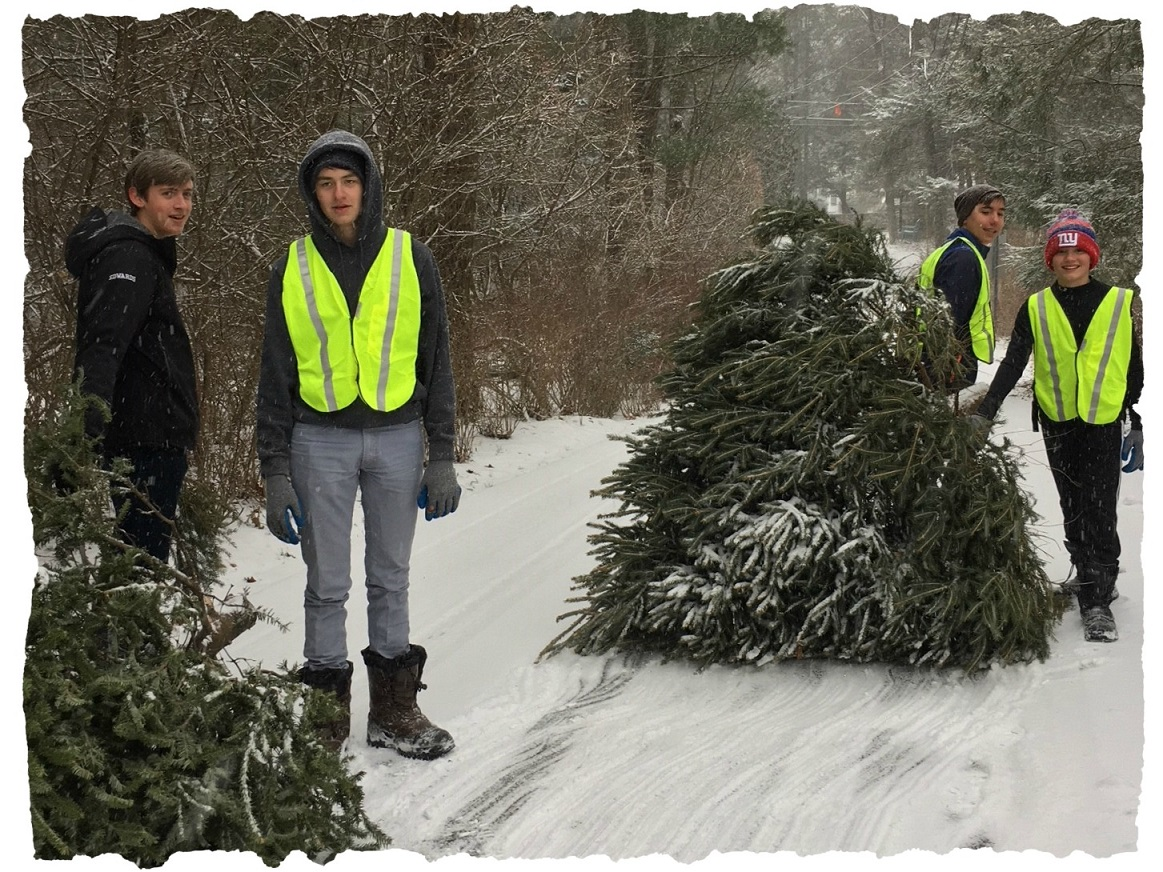 boy scout troop 39 to the rescue - Boy Scout Christmas Trees