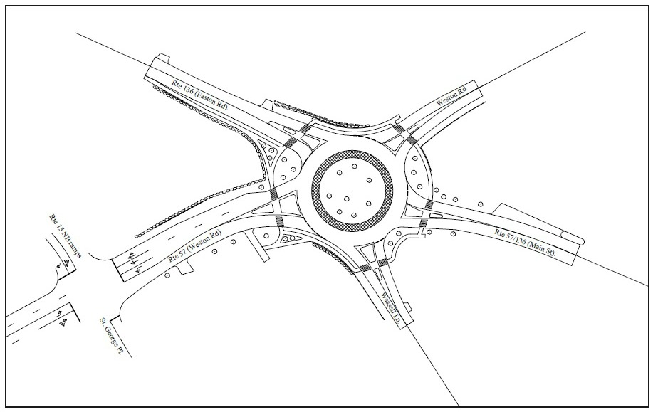 a roundabout proposal for the main roadeaston road click to enlarge