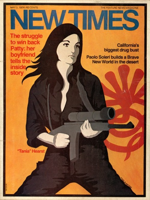 Patty Hearst - New Times cover by Miggs Burroughs