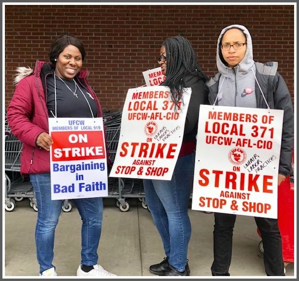 Local Stop & Shop employees head to the picket line